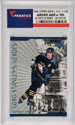 Jaromir Jagr Pittsburgh Penguins Autographed 1998 Upper Deck Lord Stanley's Heroes #LS3 Card with 2 X SC Champs Inscription