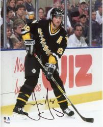 "Jaromir Jagr Pittsburgh Penguins Autographed Against the Boards 8"" x 10"" Photograph"