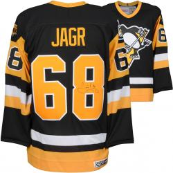 Jaromir Jagr Pittsburgh Penguins Autographed Black Stanley Cup Patch Jersey