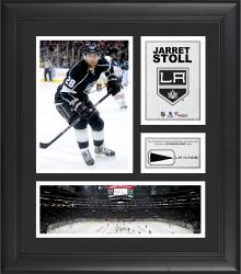 """Jarret Stoll Los Angeles Kings Framed 15"""" x 17"""" Collage with Piece of Game-Used Puck"""