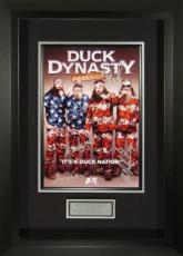 Jase Robertson signed Duck Dynasty (Season 4) 22X30 Masterprint Poster Custom Framed 4 sigs (movie/entertainment/photo)