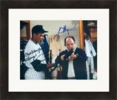 Jason Alexander and Danny Tartabull autographed 8x10 photo (Seinfeld NY Yankees George Costanza) #SC8 Matted & Framed