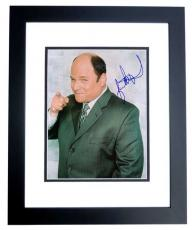 Jason Alexander Autographed SEINFELD 8x10 Photo BLACK CUSTOM FRAME