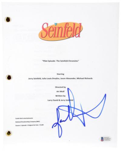 "Jason Alexander Autographed Seinfeld ""Pilot Episode"" TV Script - BAS COA"