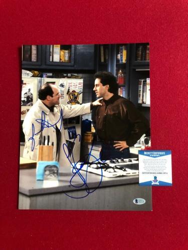 """Jason Alexander / Jerry Seinfeld, """"Autographed"""" (Beckett) 11x14 Photo"""