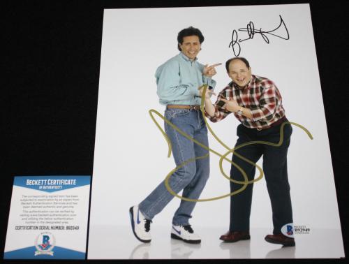 Jason Alexander & Jerry Seinfeld dual signed 8 x 10, Seinfeld,Beckett BAS B92949
