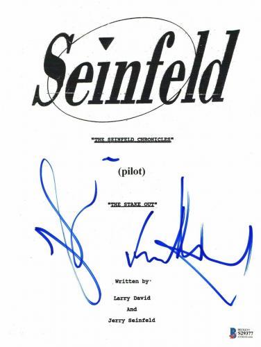 Jason Alexander Jerry Seinfeld Signed Seinfeld Auto Pilot Full Script Beckett