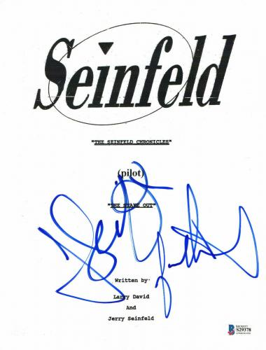 Jason Alexander Jerry Seinfeld Signed Seinfeld Auto Pilot Full Script Beckett 4
