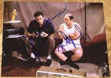 Jason Alexander & Michael Richards Signed Autograph Classic Show Scene Photo Coa