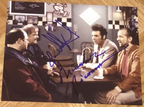 Jason Alexander & Michael Richards Signed Autograph Funny Show Scene Photo Coa