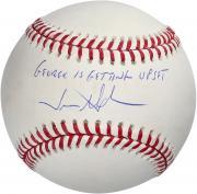 "Jason Alexander Seinfeld Autographed Baseball with ""George is Upset"" Inscription"