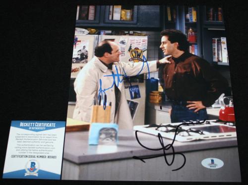 Jason Alexander & Jerry Seinfeld dual signed 8 x 10, Seinfeld,Beckett BAS B05820