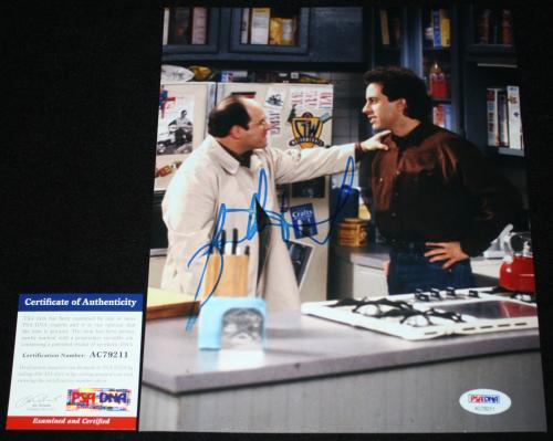 Jason Alexander signed 8 x 10, George Costanza, Seinfeld, PSA/DNA AC79211