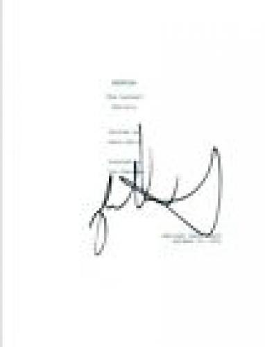 Jason Alexander Signed Autograph SEINFELD The Contest Episode Script COA