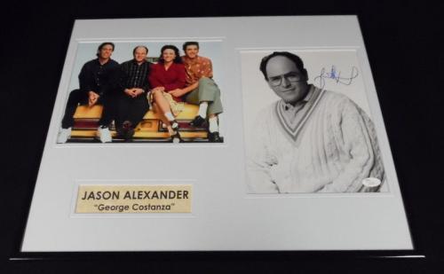 Jason Alexander Signed Framed 16x20 Photo Set JSA Seinfeld George Costanza