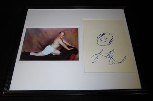 Jason Alexander Signed Framed 16x20 Sketch & Photo Set JSA Seinfeld George