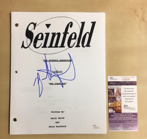"Jason Alexander Signed Seinfeld ""pilot"" Full Script Jsa Coa Auto"