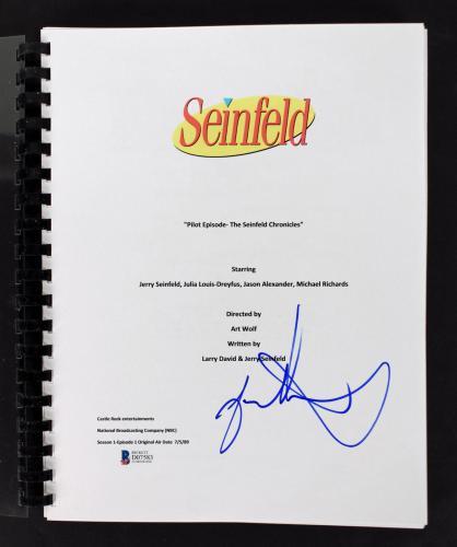 Jason Alexander Signed Seinfeld Pilot TV Script BAS #D07583