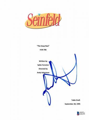 Jason Alexander Signed Seinfeld Soup Nazi Full Script Authentic Autograph Bas 4