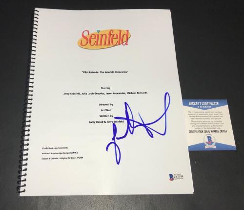 Jason Alexander Signed Seinfeld  Pilot Script Authentic Autograph Bas 3