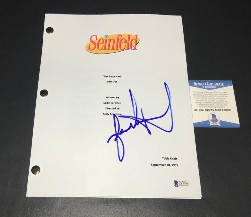 Jason Alexander Signed Seinfeld  The Soup Nazi Script Authentic Autograph Bas 5