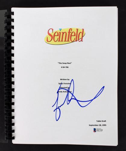 Jason Alexander Signed Seinfeld The Soup Nazi TV Script BAS #D07588