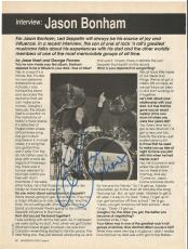 Jason Bonham Led Zeppelin Music Legend Signed Autograph 8x10 Magazine Page Coa B