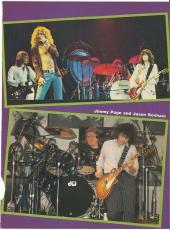 Jason Bonham Led Zeppelin Music Legend Signed Autograph 8x10 Magazine Page Coa C