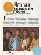 Jason Bonham Led Zeppelin Music Legend Signed Autograph 8x10 Magazine Page Coa F