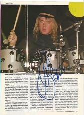 Jason Bonham Led Zeppelin Music Legend Signed Autograph 8x10 Magazine Page Coa G