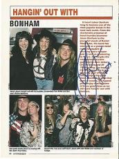 Jason Bonham Led Zeppelin Music Legend Signed Autograph 8x10 Magazine Page Coa I