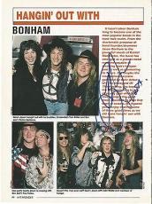 Jason Bonham Led Zeppelin Music Legend Signed Autograph 8x10 Magazine Page Coa I