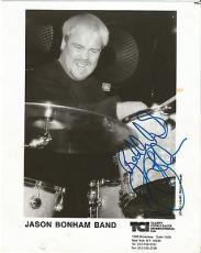 Jason Bonham Led Zeppelin Music Legend Signed Autograph 8x10 Promo Photo W/coa M