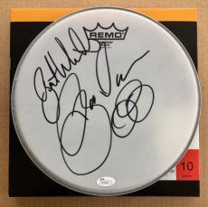 Jason Bonham Signed Drumhead JSA COA