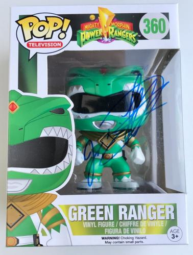 Jason David Frank Green Power Ranger Signed Funko Pop Figure Toy PSA/DNA COA