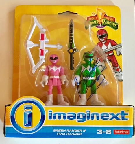 Jason David Frank Green Power Ranger Signed Imaginext Figure Toy PSA/DNA COA