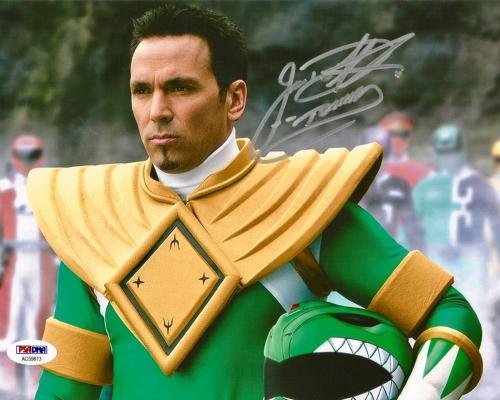 Jason David Frank Green Power Rangers Tommy Signed 8x10 Photo PSA/DNA COA (B)