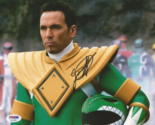 Jason David Frank Green Power Rangers Tommy Signed 8x10 Photo PSA/DNA COA (C)
