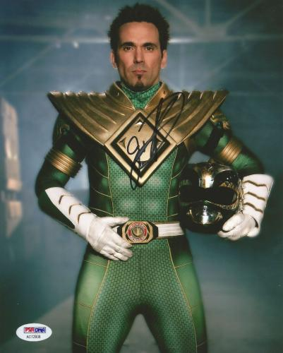 Jason David Frank Green Power Rangers Tommy Signed 8x10 Photo PSA/DNA COA (D)