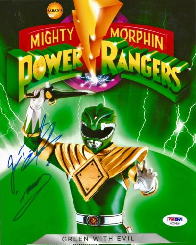 Jason David Frank Green Power Rangers Tommy Signed 8x10 Photo PSA/DNA COA (E)