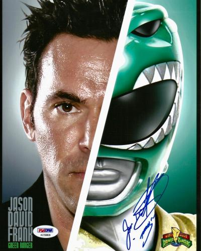 Jason David Frank Green Power Rangers Tommy Signed 8x10 Photo PSA/DNA COA (H)