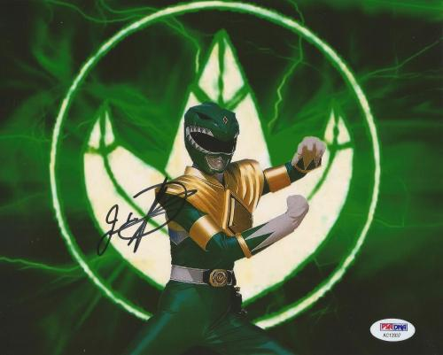 Jason David Frank Green Power Rangers Tommy Signed 8x10 Photo PSA/DNA COA (I)