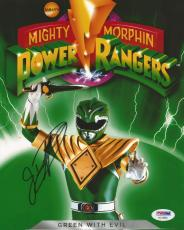 Jason David Frank Green Power Rangers Tommy Signed 8x10 Photo PSA/DNA COA (J)