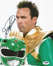 Jason David Frank Green Power Rangers Tommy Signed 8x10 Photo PSA/DNA COA (K)