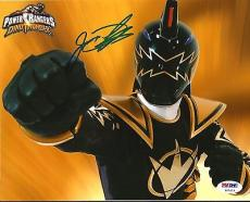 Jason David Frank JDF POWER RANGERS Black Dino Signed 8x10 Photo PSA/DNA COA #2