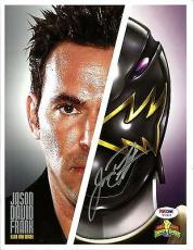 Jason David Frank JDF POWER RANGERS Black Dino Signed 8x10 Photo PSA/DNA COA