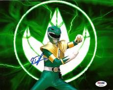 Jason David Frank POWER RANGERS Green Ranger Signed 8x10 Photo PSA/DNA COA #2