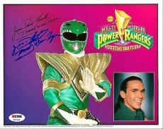 Jason David Frank POWER RANGERS Green Ranger Signed Fan Club 8x10 PSA/DNA COA