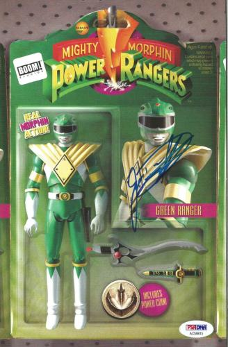 Jason David Frank Power Rangers Green Signed BOOM Comic #1 Figure PSA/DNA COA