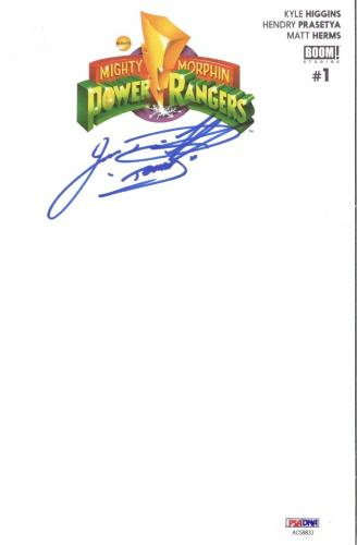 Jason David Frank Power Rangers Green Signed BOOM Comic #1 Sketch PSA/DNA COA